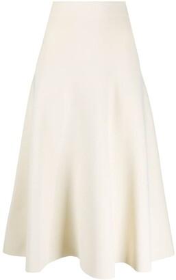 Jil Sander Knitted Midi Skirt