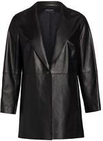 Thumbnail for your product : Lafayette 148 New York, Plus Size Kourt Peak-Lapel Leather Jacket