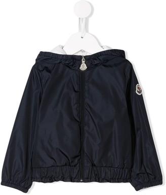 Moncler Enfant Hooded Zip Rain Jacket