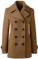 Lands' End Women's Petite Insulated Wool Peacoat-Vicuna