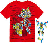 JCPenney Novelty T-Shirts Graphic Tee with Toy Robot - Preschool Boys 4-7