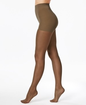 Hanes Women's Perfect Nudes Run Resistant Girl-Short Tummy-Control Pantyhose Sheers