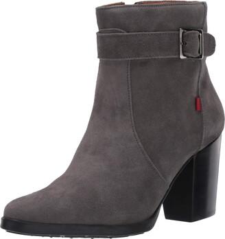 Marc Joseph New York Women's Leather Luxury Bootie with Side Zipper/Buckle Chukka Boot