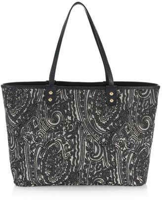 Etro Reversible Paisley Leather Tote