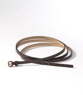 Slim double wrap belt