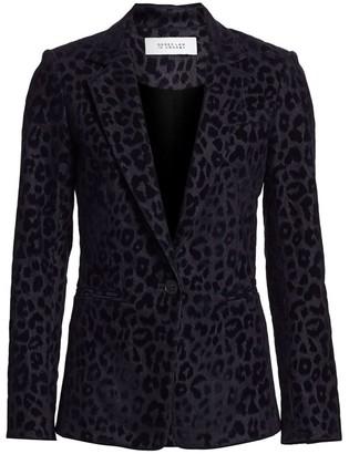 Derek Lam 10 Crosby Velvet Leopard-Print Blazer