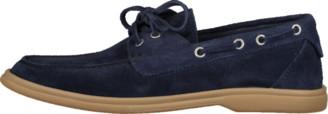 Brunello Cucinelli Indigo Suede Boat Shoe
