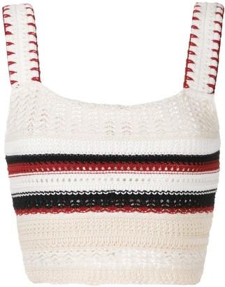 Santorini crochet cropped top
