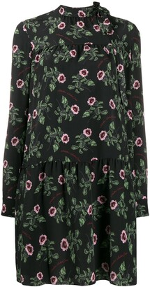 Valentino x Undercover floral silk dress