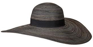 San Diego Hat Company MXL1020OS Mixed Poly Braid Sunbrim (Black Mix) Caps