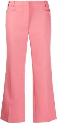 Stella McCartney Kick-Flare Cropped Trousers