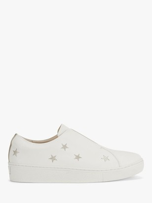 Mint Velvet Ruby Star Embroidered Trainers, White