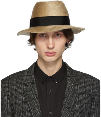 Saint Laurent Brown Felt Fedora