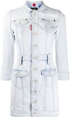 DSQUARED2 Jacket Style Button Front Dress