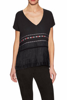 Twelfth Street By Cynthia Vincent Fringe Silk Top