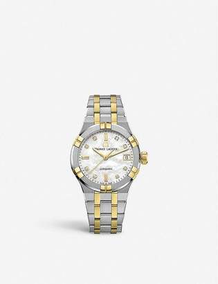 Maurice Lacroix AI6006-PVY13-170-1 Aikon stainless steel, yellow-gold PVD and diamond watch