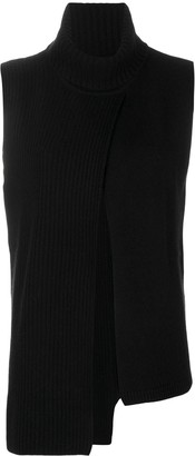 Cashmere In Love Cashmere Roll Neck Ribbed Sweater