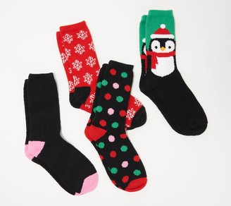 Hallmark Holiday Cozy Socks Set of 4