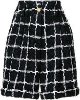 Balmain high-waisted tweed shorts