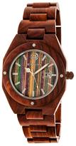 Earth Wood Cypress Wood Skateboard Dial Bracelet Watch, 45mm wide