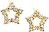 Tai Golden CZ Star Stud Earrings