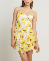 Marigold Chiffon Floral Dress