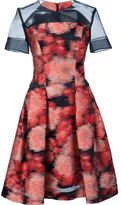 Carolina Herrera sheer panel jacquard dress