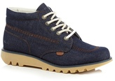 Kickers Navy Denim Lace Up Ankle Boots