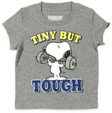 """Peanuts® Size 24M Snoopy """"Tiny But Tough"""" Shirt in Grey"""