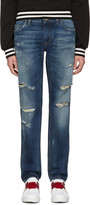 Dolce & Gabbana Blue Gold Fit Jeans