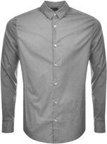 Giorgio Armani Jeans Slim Fit Stripe Dot Shirt Grey