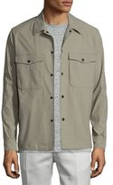 Theory Drato Button-Front Shirt Jacket, Sidewalk