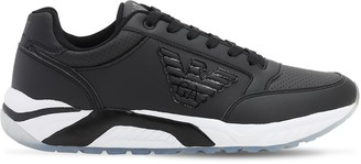 Emporio Armani Ea7 Vintage Racer Leather Sneakers
