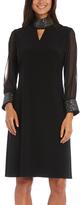 R & M Richards Black Embellished Keyhole Dress - Plus Too