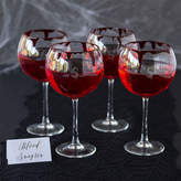 Cathy's Concepts CATHYS CONCEPTS Set Of 4 Personalized Spooky 19-oz. Red Wine Glasses