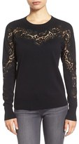 Halogen Lace Inset Sweater (Regular & Petite)
