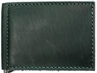 Mr Fox Handmade Green Leather Wallet