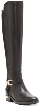 Vince Camuto Pearly Wide-Calf Riding Boots Women's Shoes