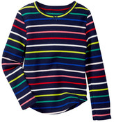 Joe Fresh Waffle Stripe Sweater (Little Girls & Big Girls)