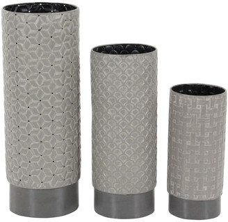 Uma Enterprises Set Of 3 Metal Vase