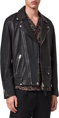 AllSaints Milo Leather Biker Jacket