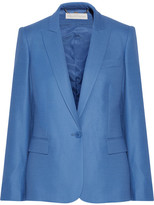 Stella McCartney Ingrid Wool-piqué Blazer - Azure