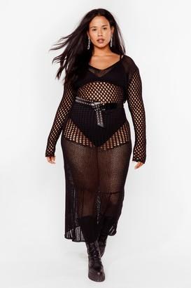 Nasty Gal Womens The Hole Shebang Plus Maxi Dress - Black