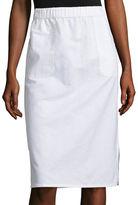 Liz Claiborne Slim-Fit Midi Skirt - Tall