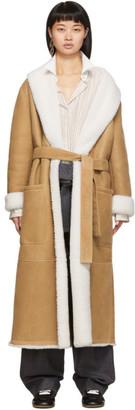 Loewe Tan Shearling Long Coat