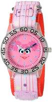 EWatchFactory Girl's 'Sesame Street' Quartz Plastic and Nylon Automatic Watch, Color:Pink (Model: W003160)