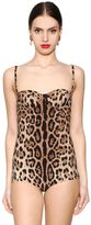 Dolce & Gabbana Leopard Printed One Piece Swimsuit