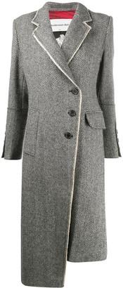 ANDERSSON BELL Berlin Raw-edge Herringbone Coat