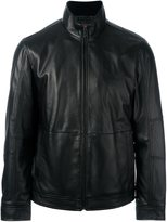 Michael Kors zipped leather jacket - men - Sheep Skin/Shearling/Acetate - S