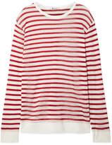 Alexander Wang Striped Slub Stretch-jersey Sweater